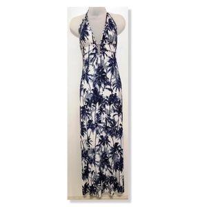 Elan Beach Full Length Halter Dress